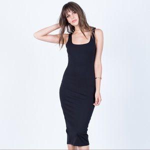 Back Slit Bodycon Dress